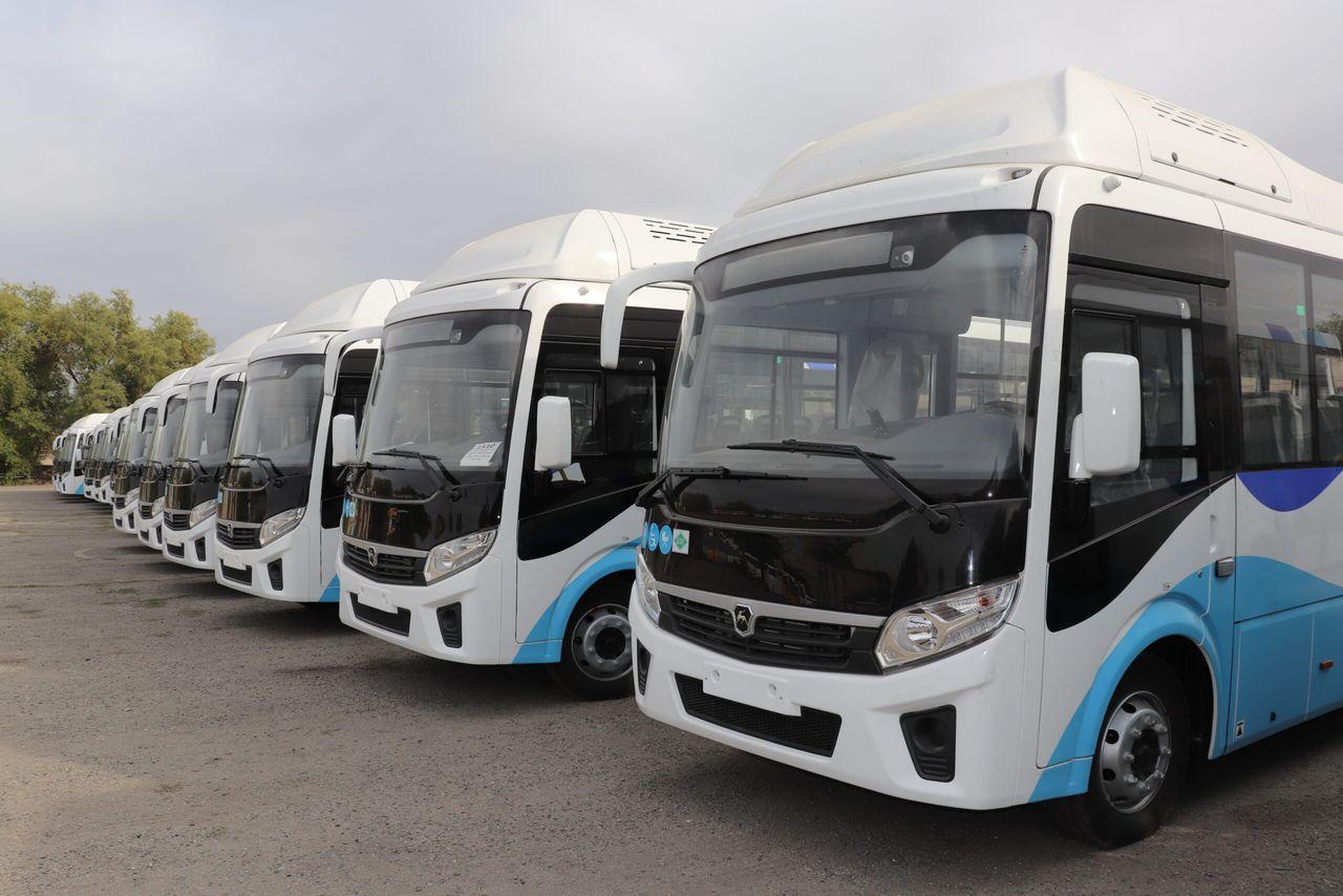 Автобусный парк Талдыкоргана пополнился новыми 18 единицами  автобусов марки «ПАЗ»